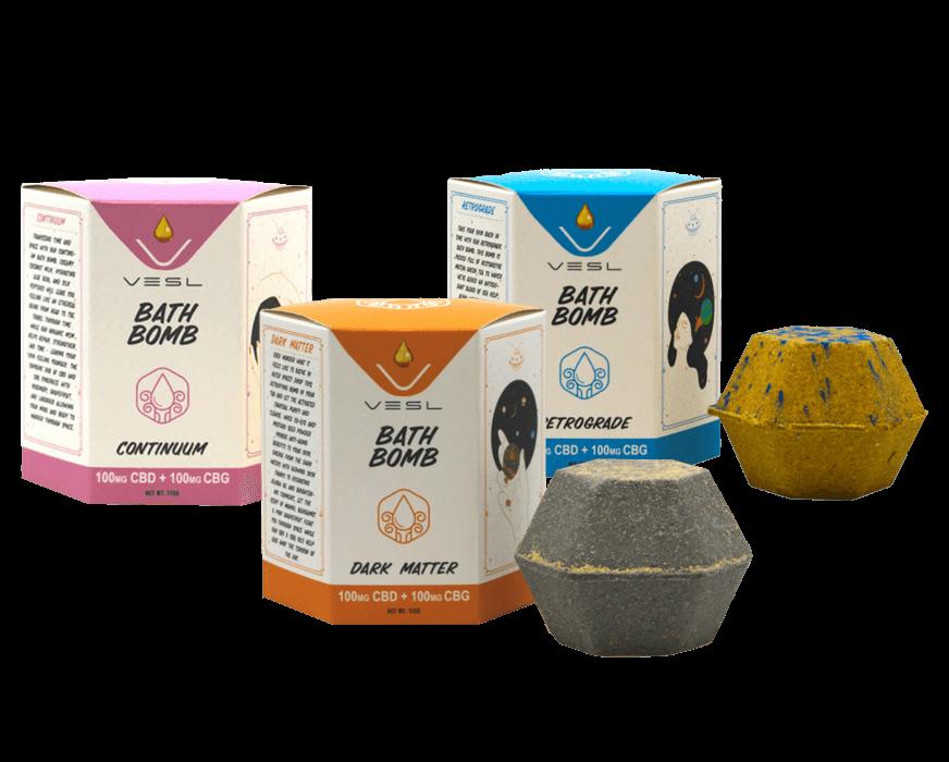 Vesl Oils product. Bath all bath bomb flavors