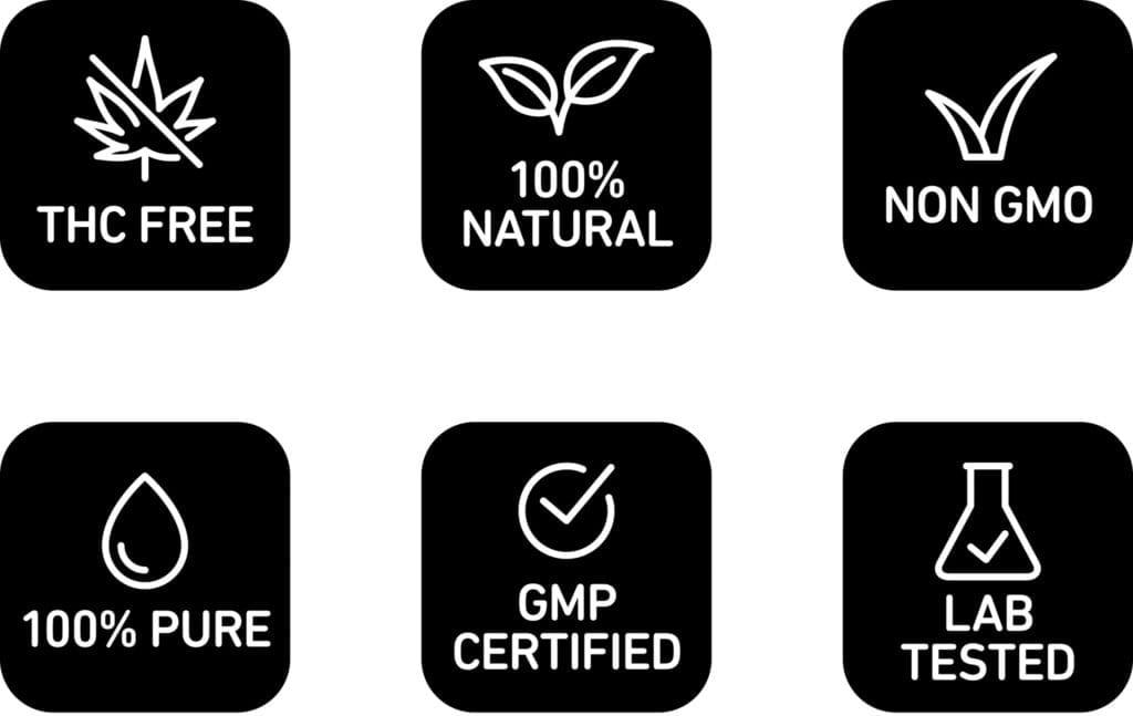 Vesl Oils THC Free, 100% Natural, Non GMO, 100% Pure, GMP Certified, Lab Test