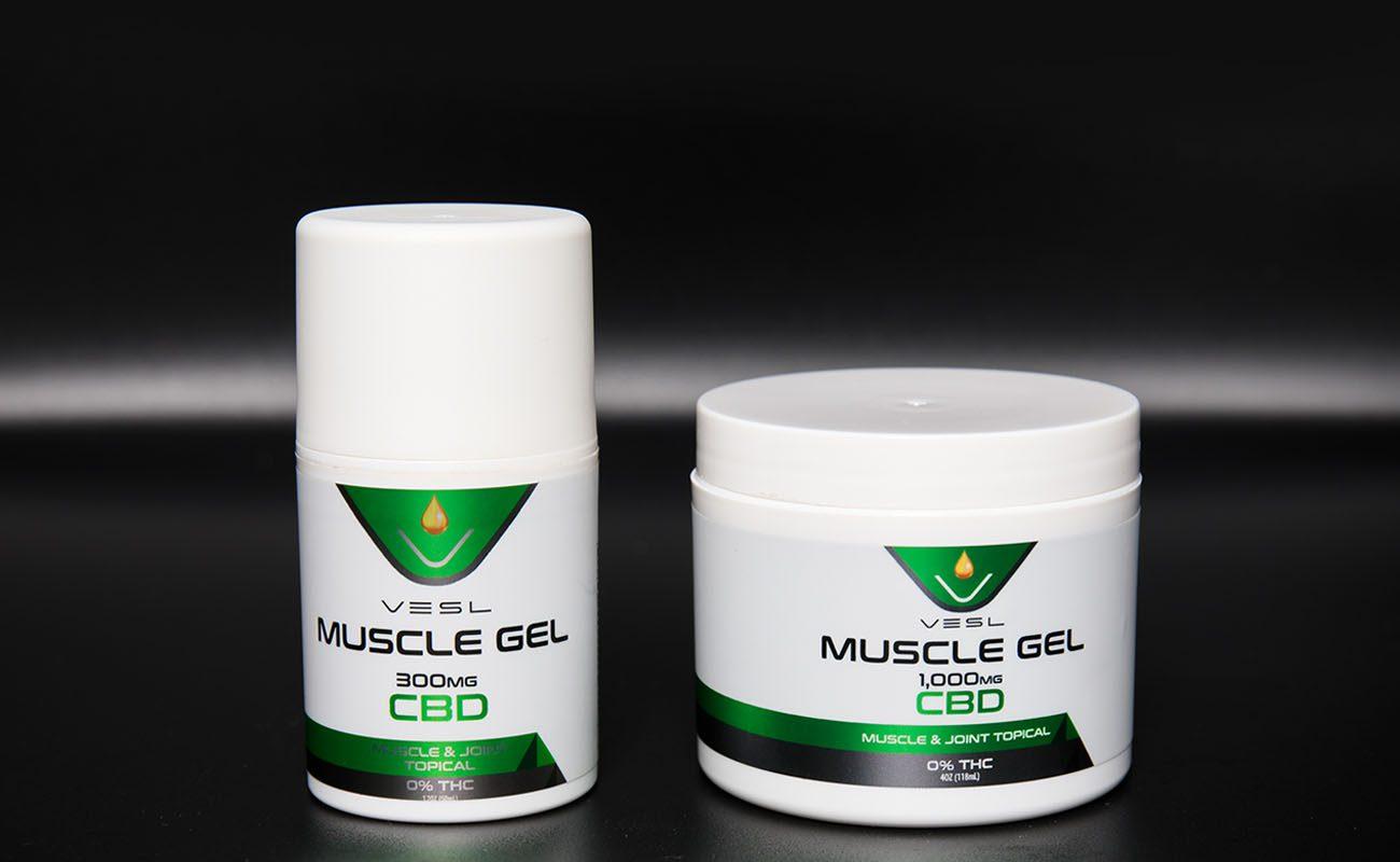 CBD Muscle Gel 300mg Travel Size and CBD Muscle Gel 1000mg