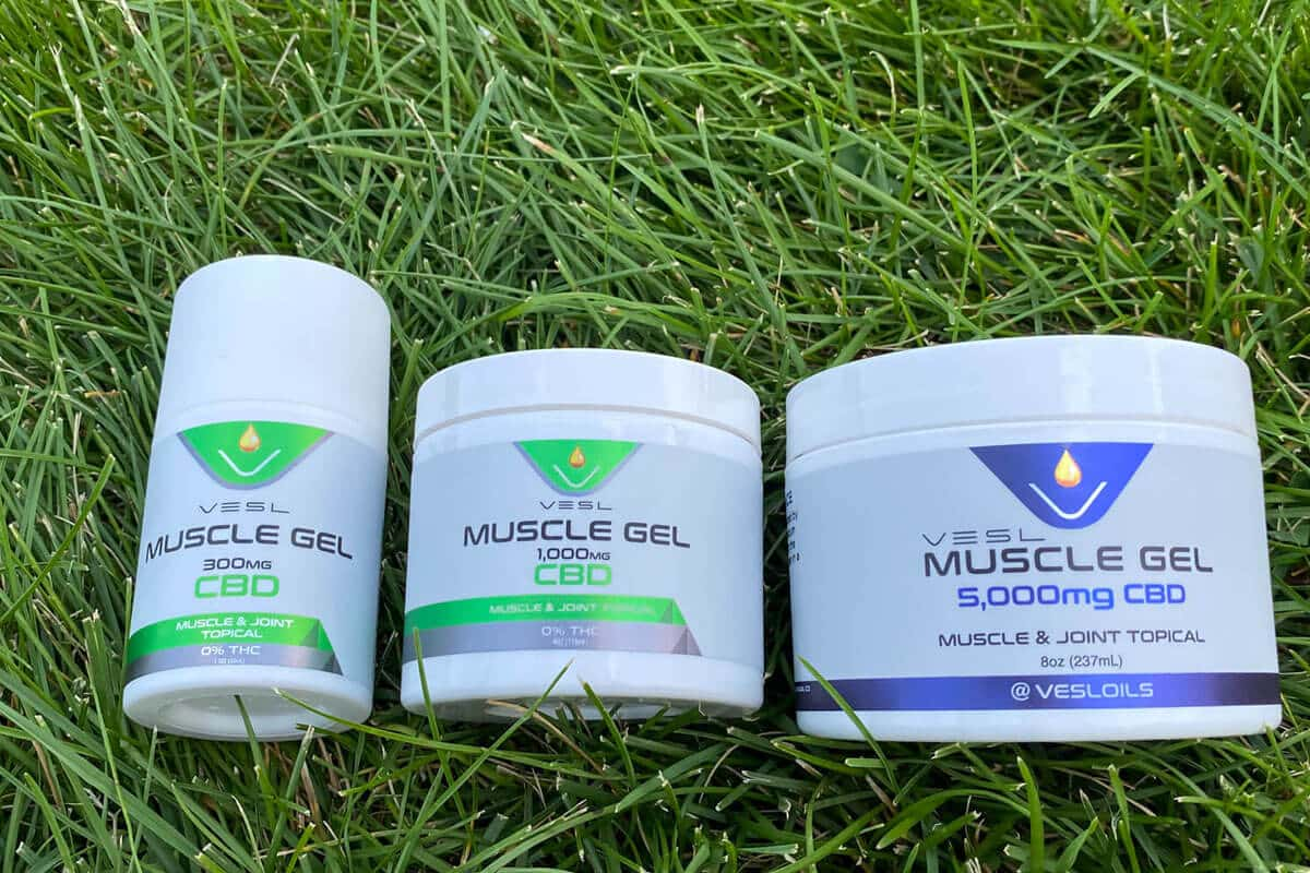 CBD muscle gel and topicals products