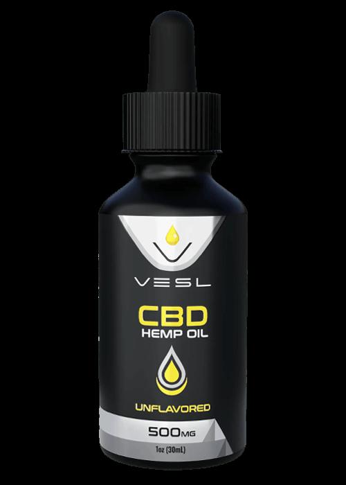 Vesl Oils CBD hemp oil unflavored 500mg