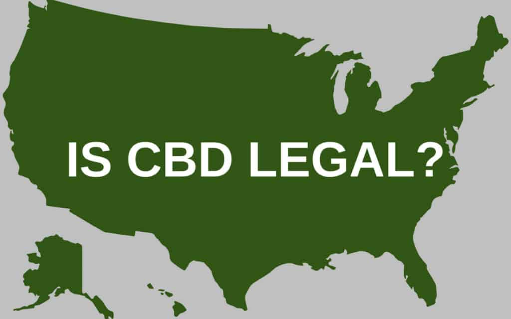 USA map about CBD legality