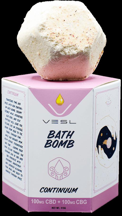 100mg CBD + 100mg CBG Continuum Bath bomb
