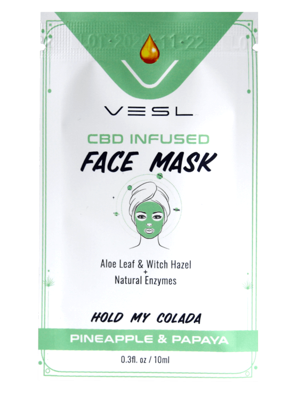 Vesl Oils product. CBD Infused Face Mask Pineaple & Papaya