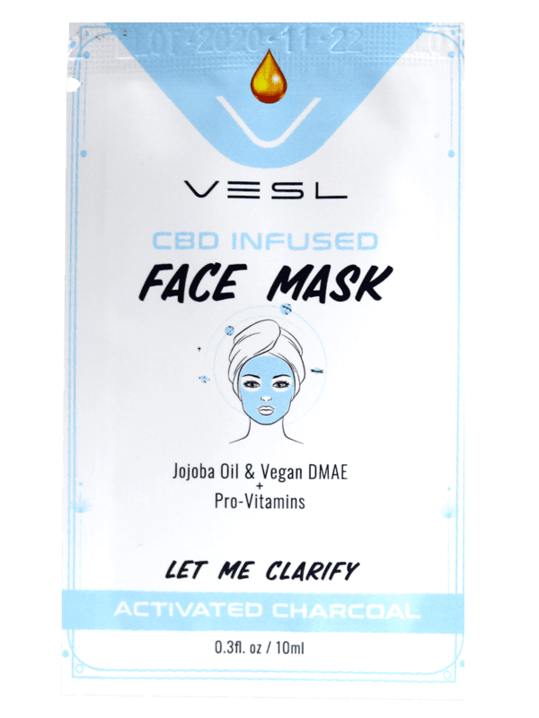 Vesl Oils product. CBD Infused Face Mask Activated Charcoal