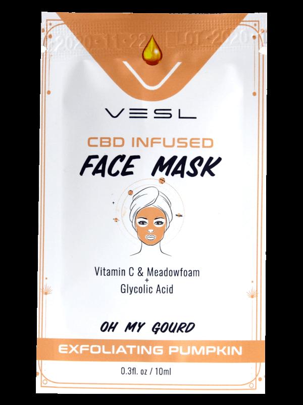 Vesl product CBD Infused Face Mask Exfoliating Pumpkin