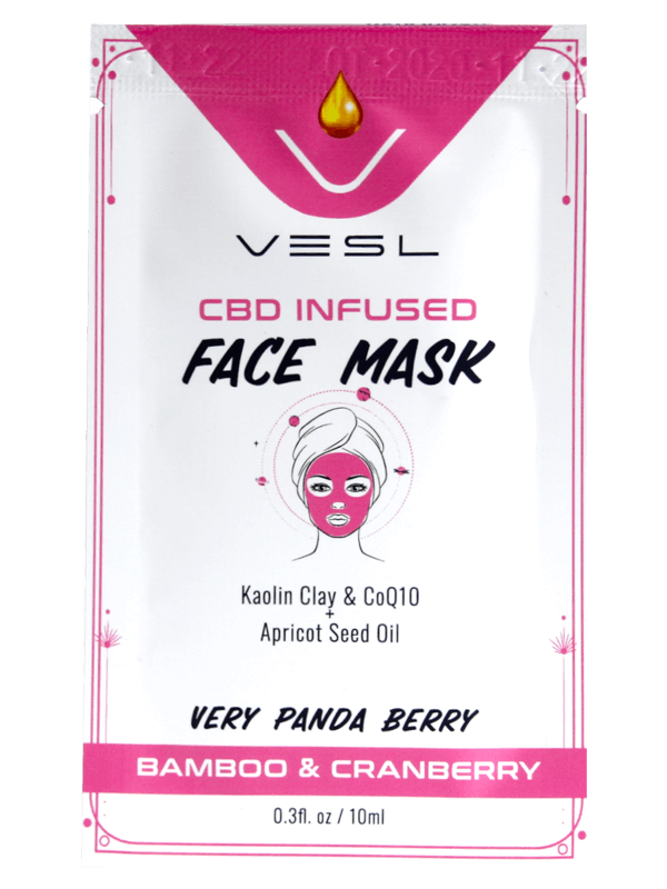 Vesl Oils product CBD Infused Face Mask Bamboo and Cranberry