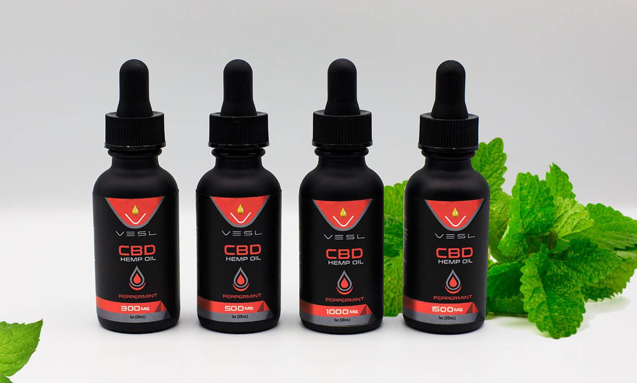 CBD Oils Peppermint Flavor 300mg to 1500mg