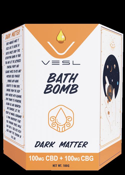 Vesl Oils Bath Bomb Dark Matter 100mgCBD + 100mg CBG