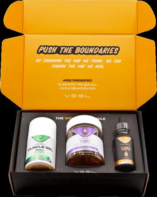 CBD Wellness Bundle. Inclusion - Muslce Gels 300mg, CBD Vegan Gummies 30ct, and 300mg CBD Oils Citrus flavor.