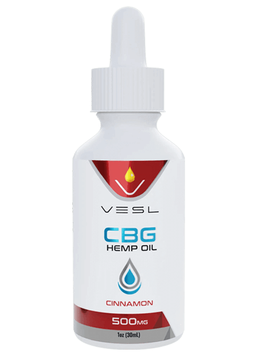Vesl Oils CBG Hemp Oil Cinnamon Flavor 500mg