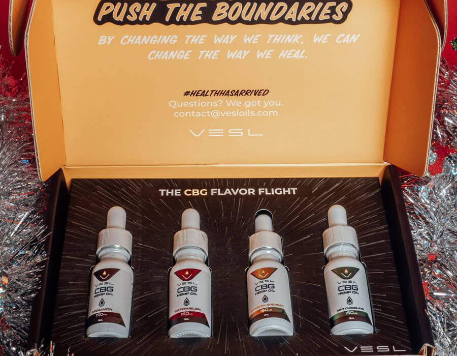 Vesl Oils product. Vesl Oils CBG bundles, all CBG flavors in a box