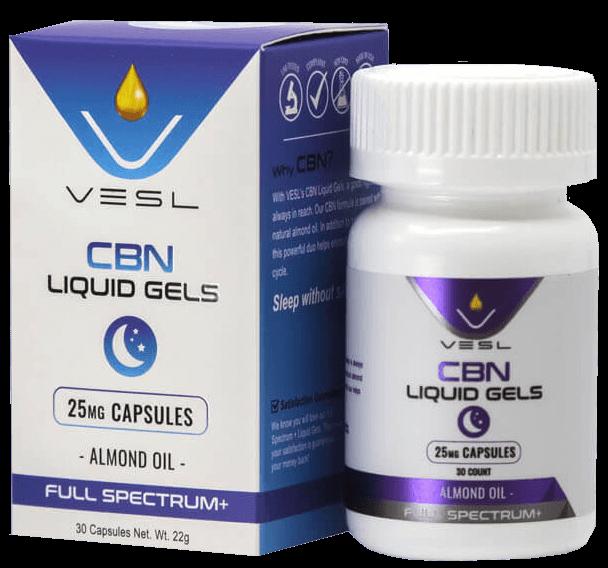 CBN Liquid Gels 25mg Bundle Inclusion