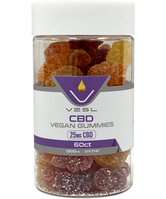 Vesl CBD Vegan Gummies 25mg CBD 6ct